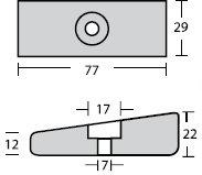 Nautical Anodes Rakicevic - M/M Plate 75hp
