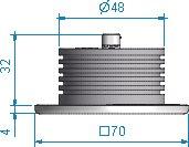 Roca - Down light 70x70 med reflektor Classic Line