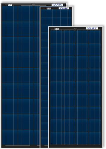 Solara - Solcellepanel med aluminiumsramme
