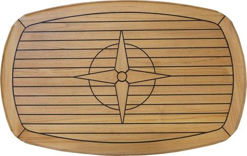 - Bordplade Teakbord med afrundede hjørner