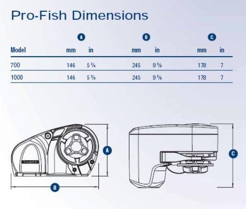 Lewmar - Lewmar ankerspilkit PRO-FISH 1000