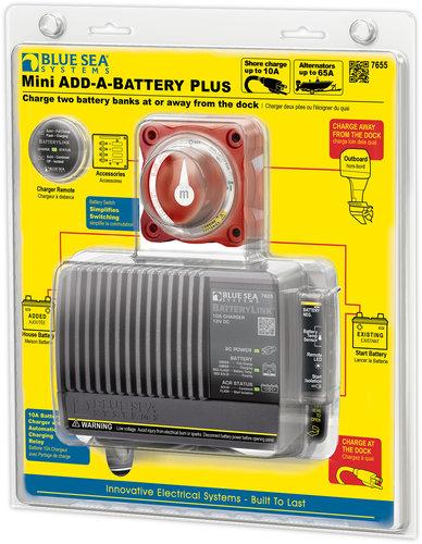 Blue Sea System - Huvudströmbrytare + batteriladdare