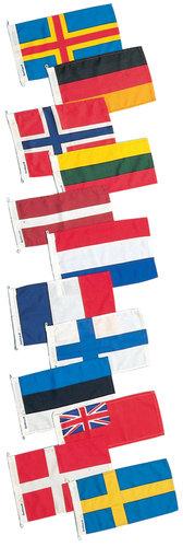 Adela Flagcenter - Gæsteflag, længde 30 cm