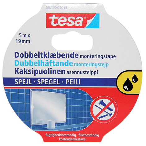 TESA - Monteringstejp, dubbelhäftande