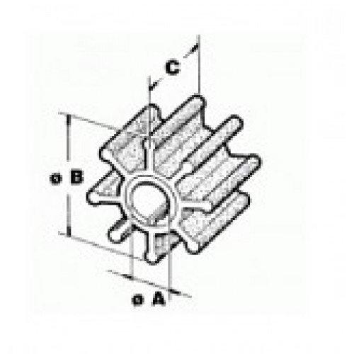 Recmar - Impeller t. Mercury - Mariner 3,9-6 Hk