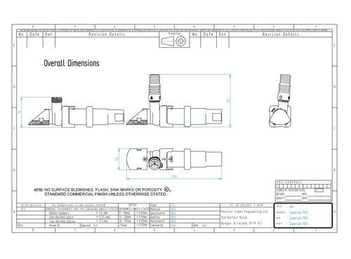 Whale - Supersub 1100 lensepumpe, innebygd nivåvakt