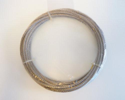 Gunnebo - Galvad stållina Ø 2 mm, 42 trådar, 10 m