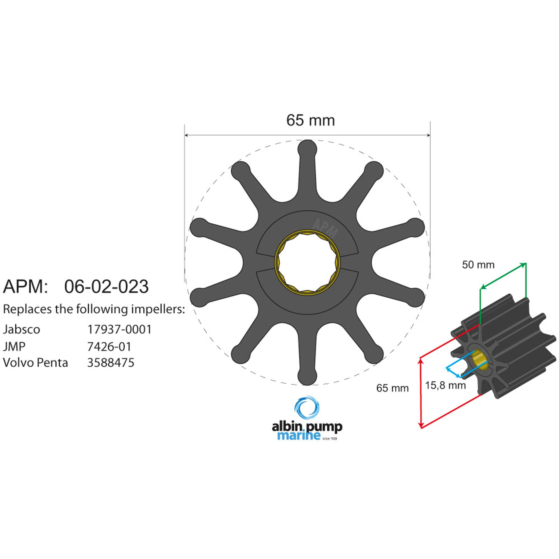 Impeller albin pump 06-02-023