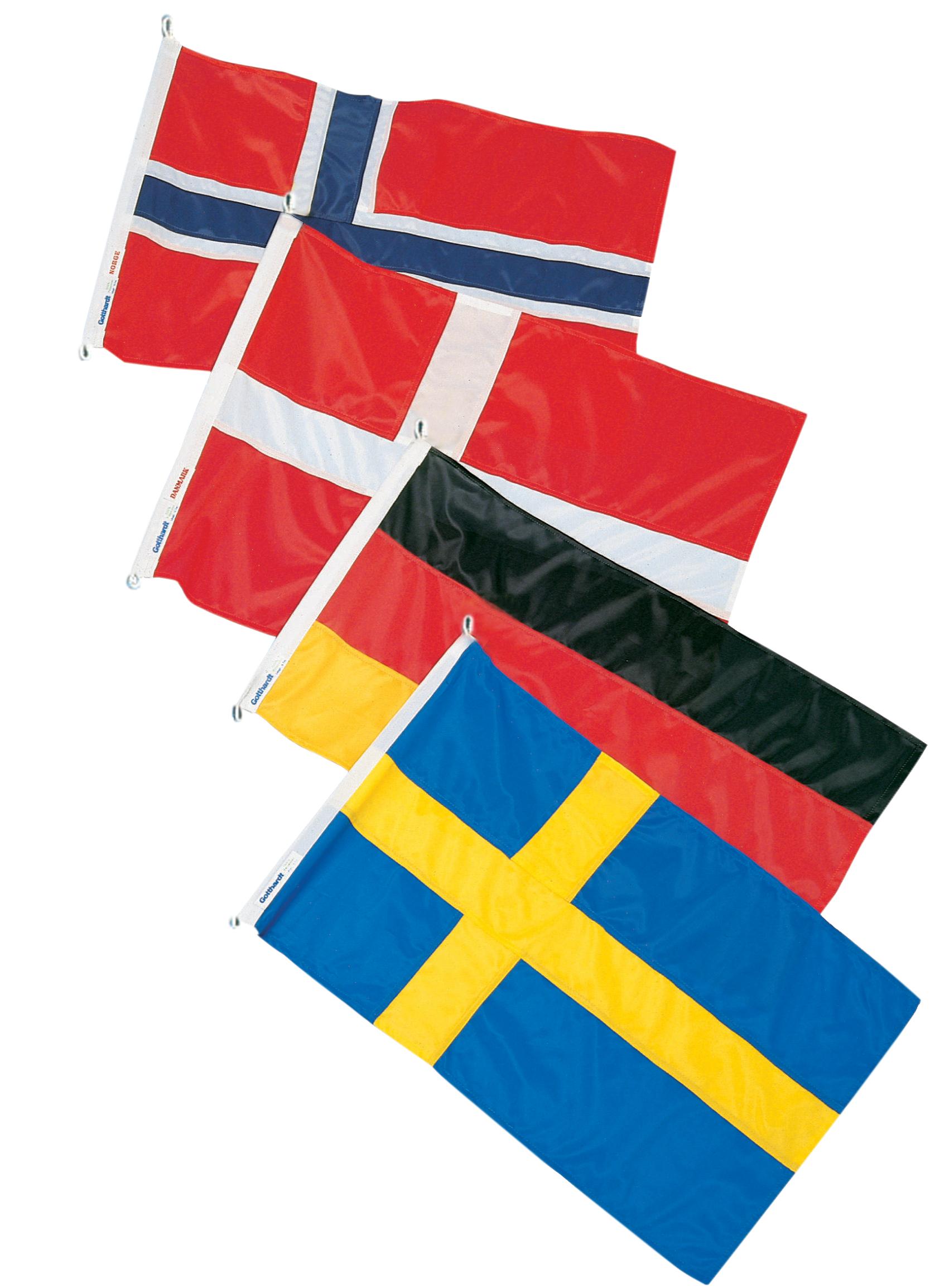 Gästflaggor skagerak 4st/frp