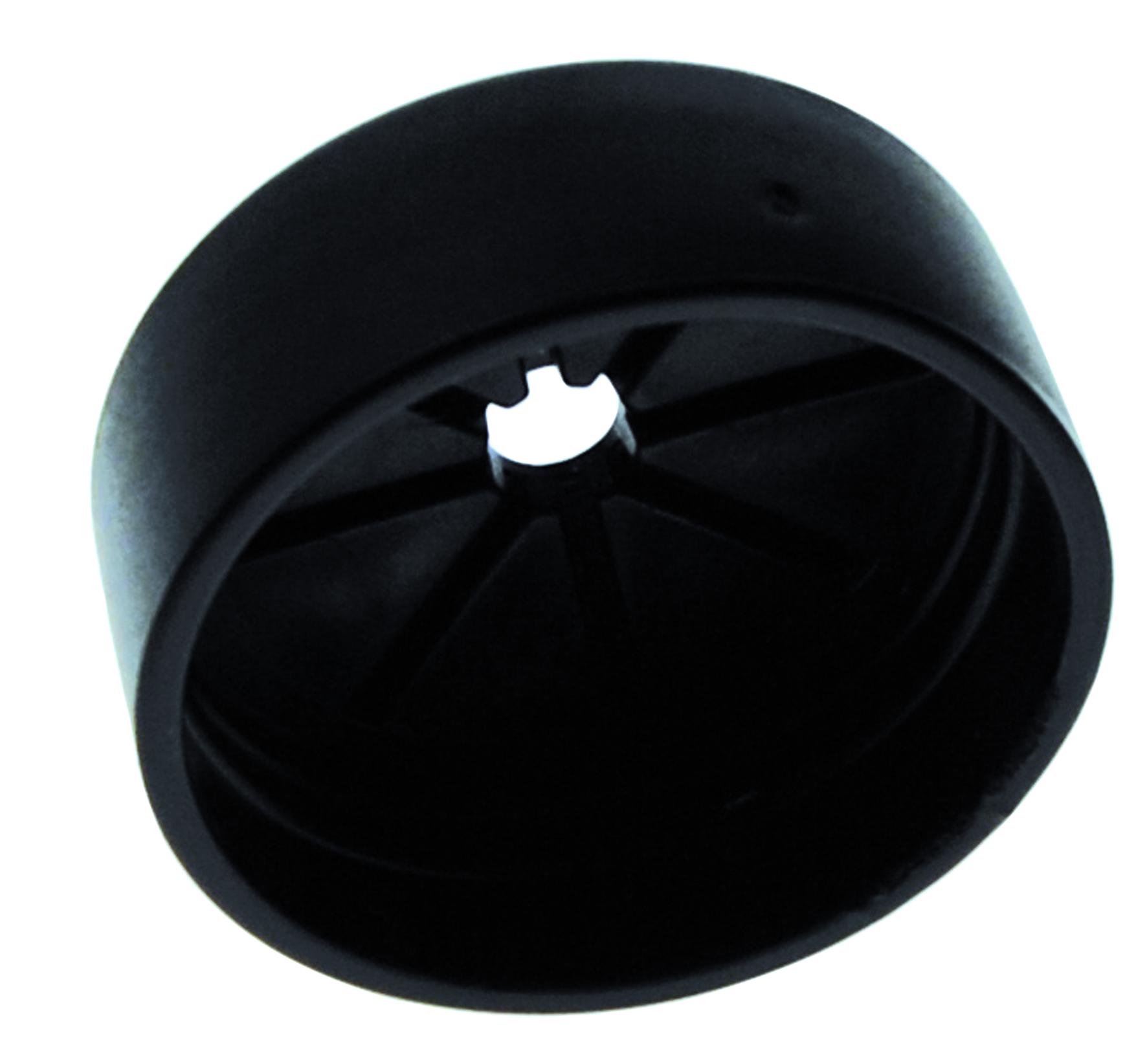 Ändgenomför svart för slang 107309 10st