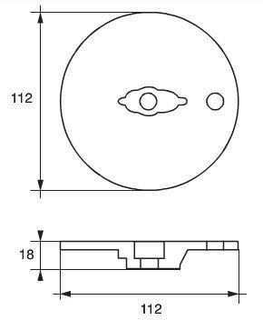 Anod zn m/m trimplatta ø112