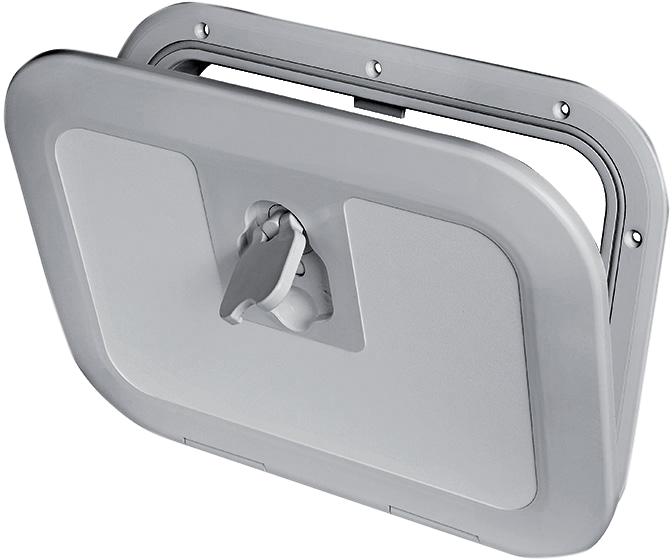 Insp.lucka osc 380x280mm grå 180gr öppn.