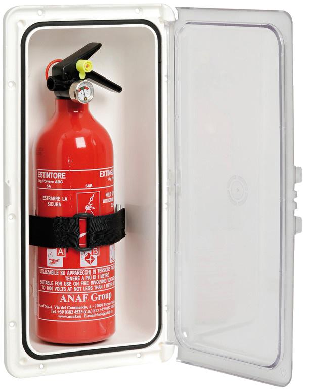 Förvaringsbox brandsläckare