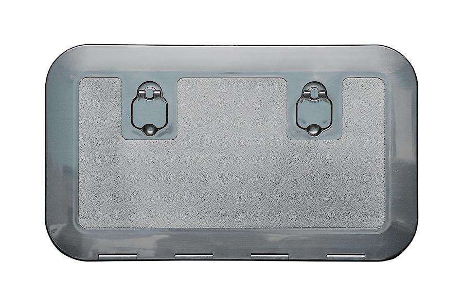 Insp.lucka osc 600x350mm grå 180gr öppn.
