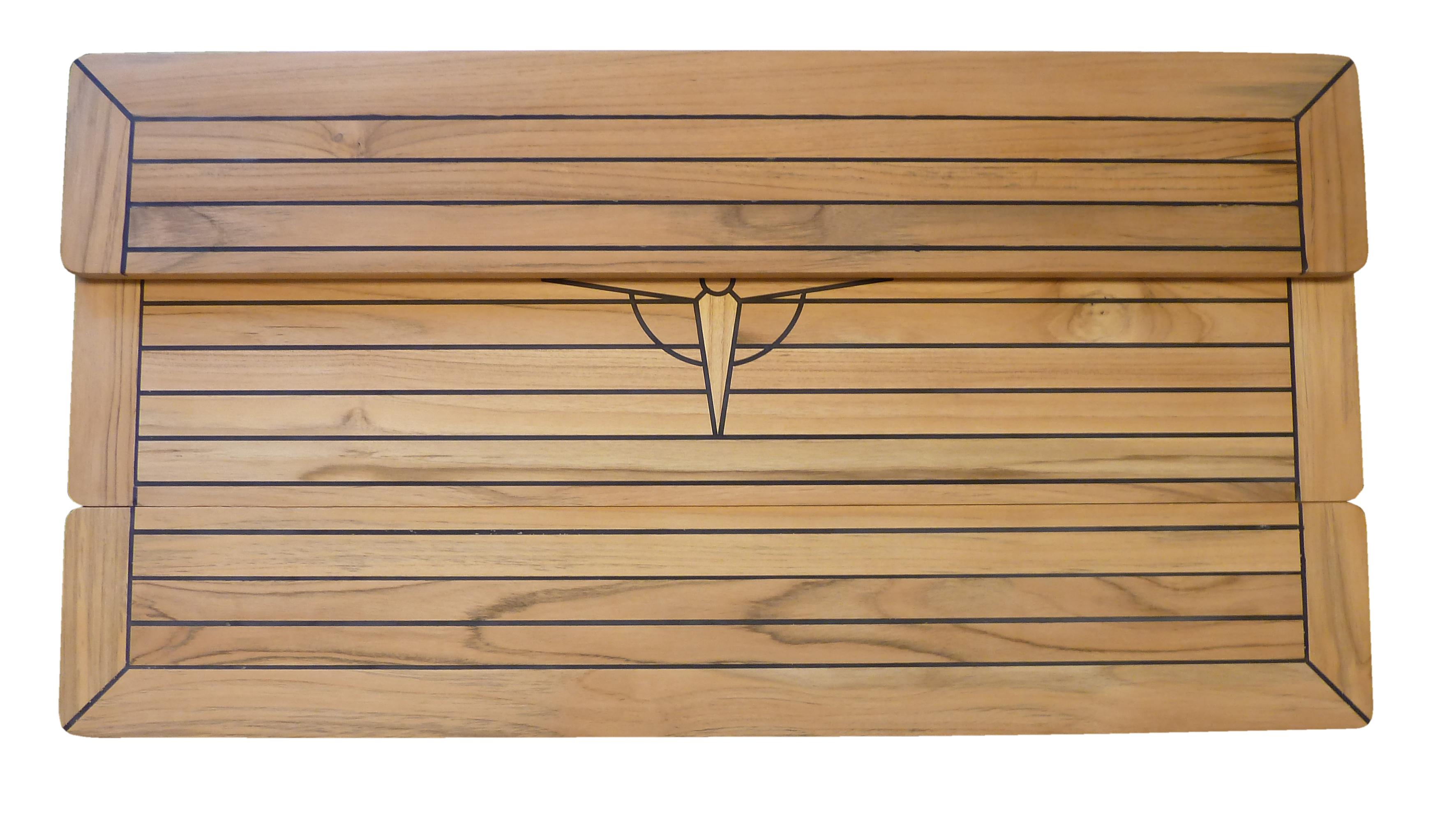 Teakbord fällbart 100 x 70 cm
