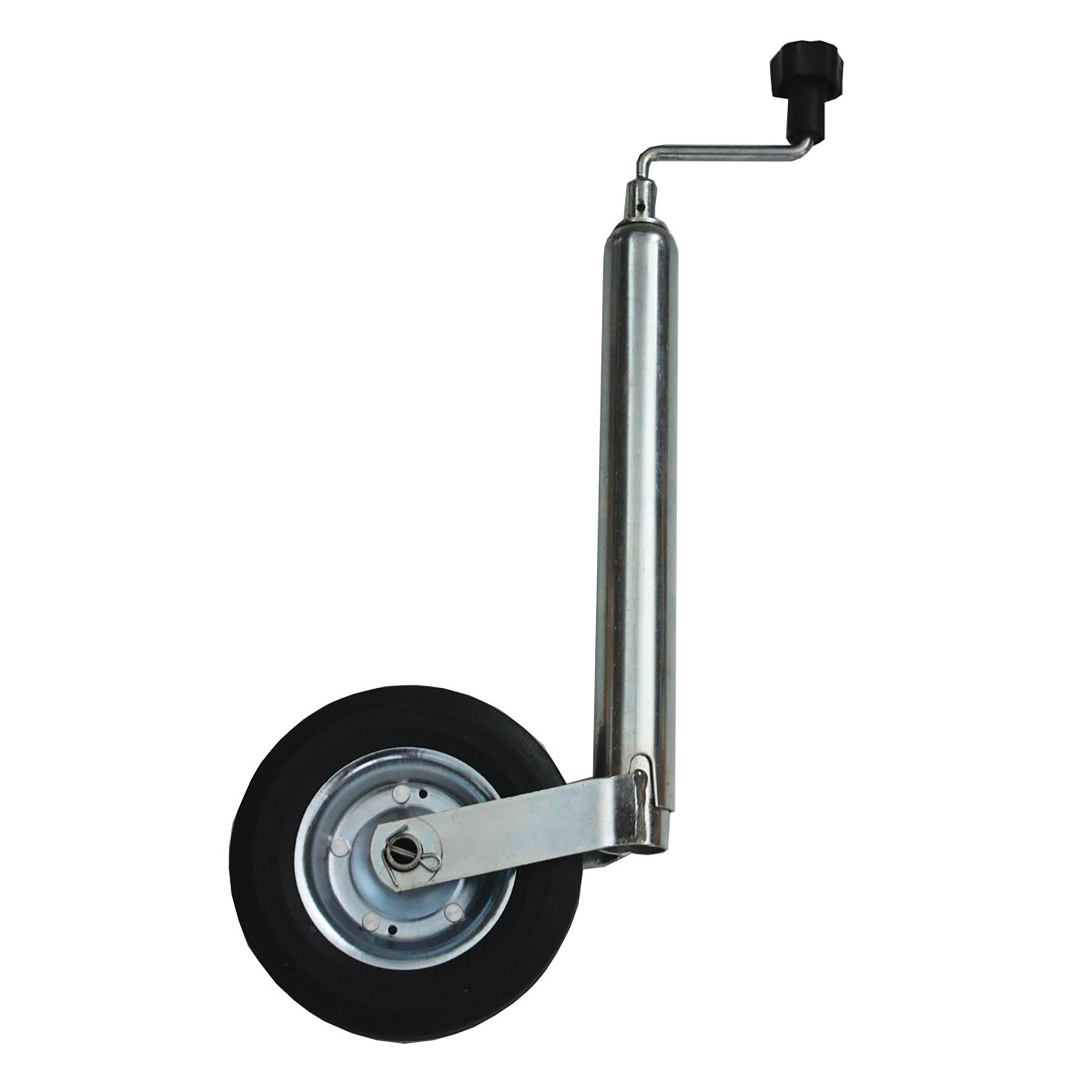 Stödhjul m. helgjutet gummihjul 150 kg