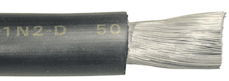 Gummikabel förtennad svart 35 mm²