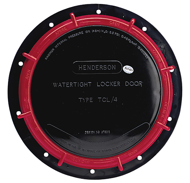 Inspektionslucka tcl4 svart ø 236 mm