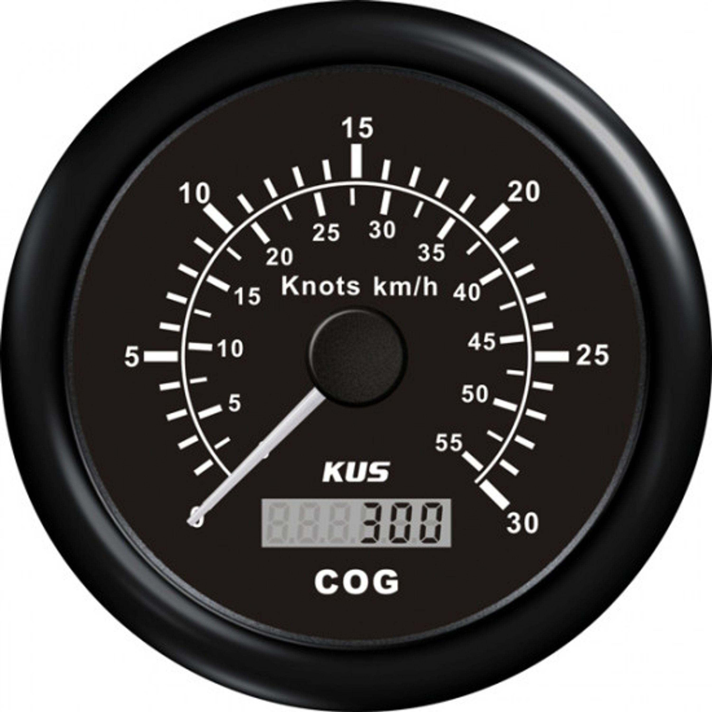 Kus gps speed 0-60knob svart 12/24v ø85