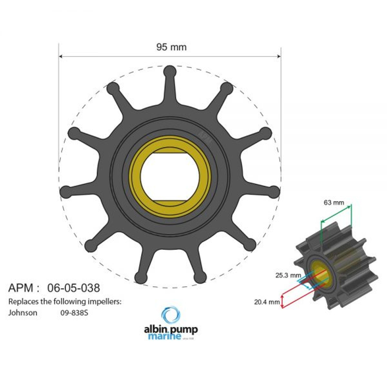 Premium fip impeller pn 06-05-038