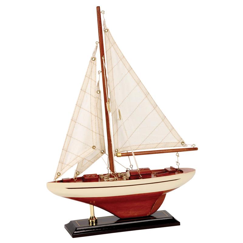 Båtmodell segelbåt 25x6x35