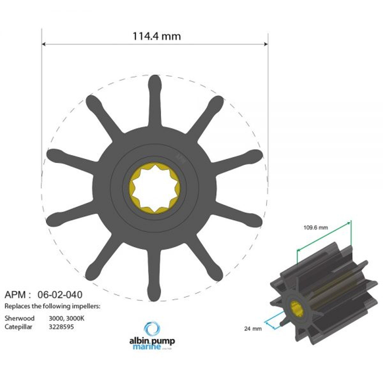 Premium impeller pn 06-02-040