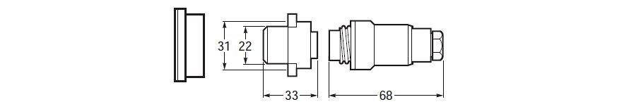 Däckskontakt 3-polig max 16 a