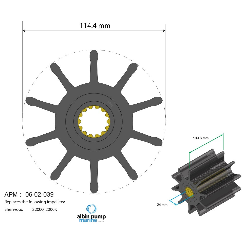 Premium impeller pn 06-02-039