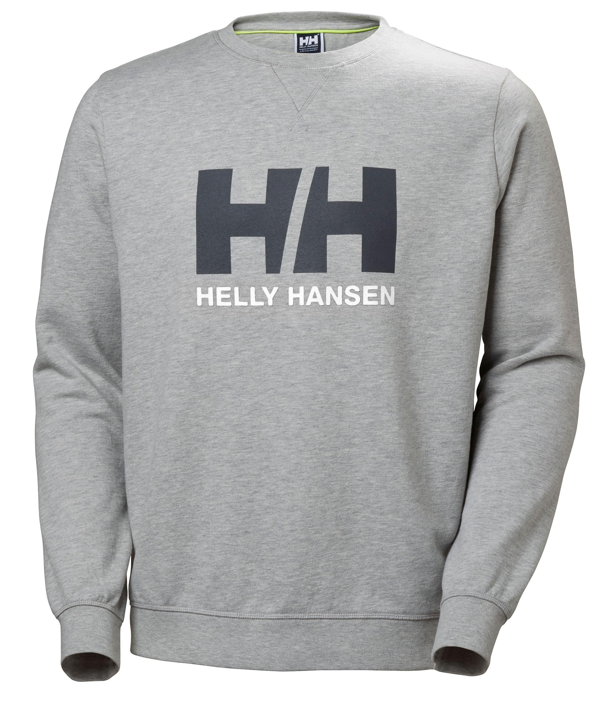 Helly hansen sweatshirt logo crew grå strl m