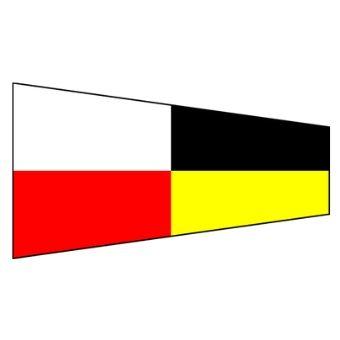 Signalflagga 30 cm siffra 9