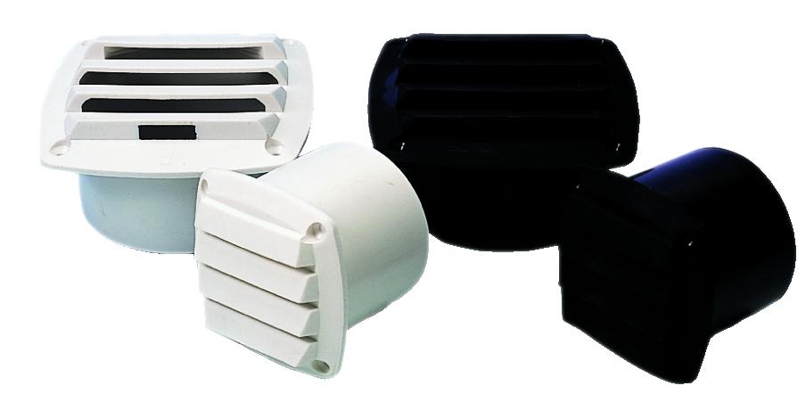 Ventilgaller pvc 82x82x75 mm vit