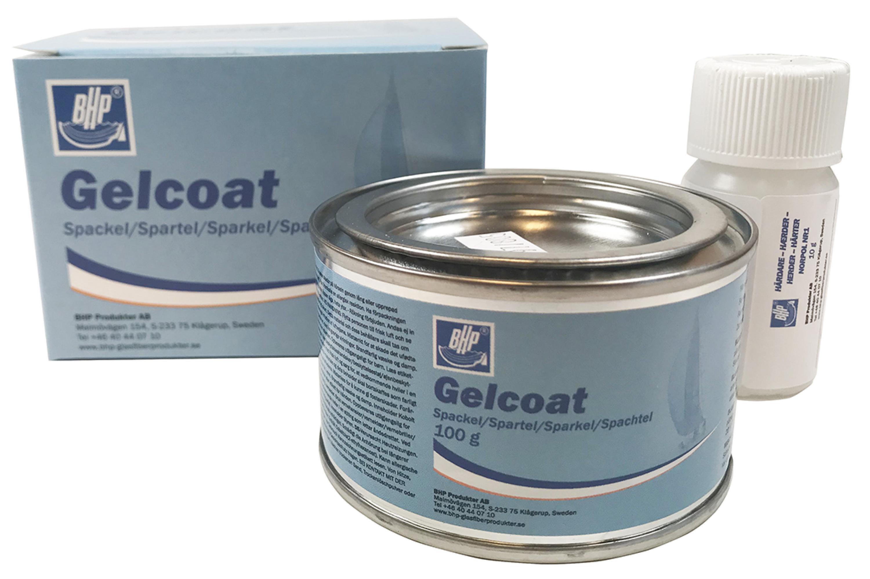 Bhp gelcoatspackel grå 50032 100 g