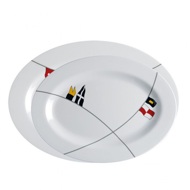 Mb regatta oval serveringsfat 30x22/35x25 cm 585 gr. 2 st