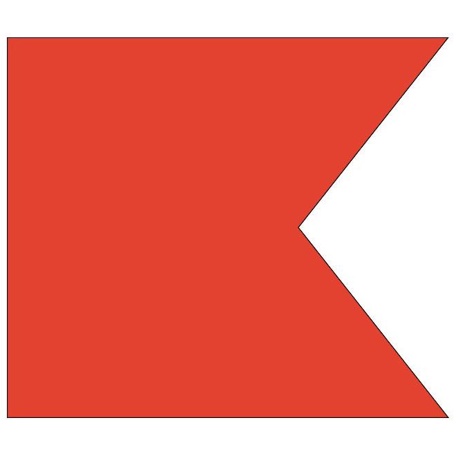 Signalflagga 30 cm bokstav b