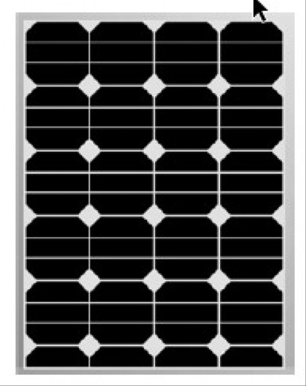 Dc solar 80 w sunpower, solceller till båt, svart