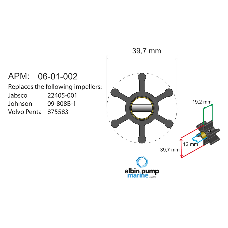 Impeller albin pump 06-01-002