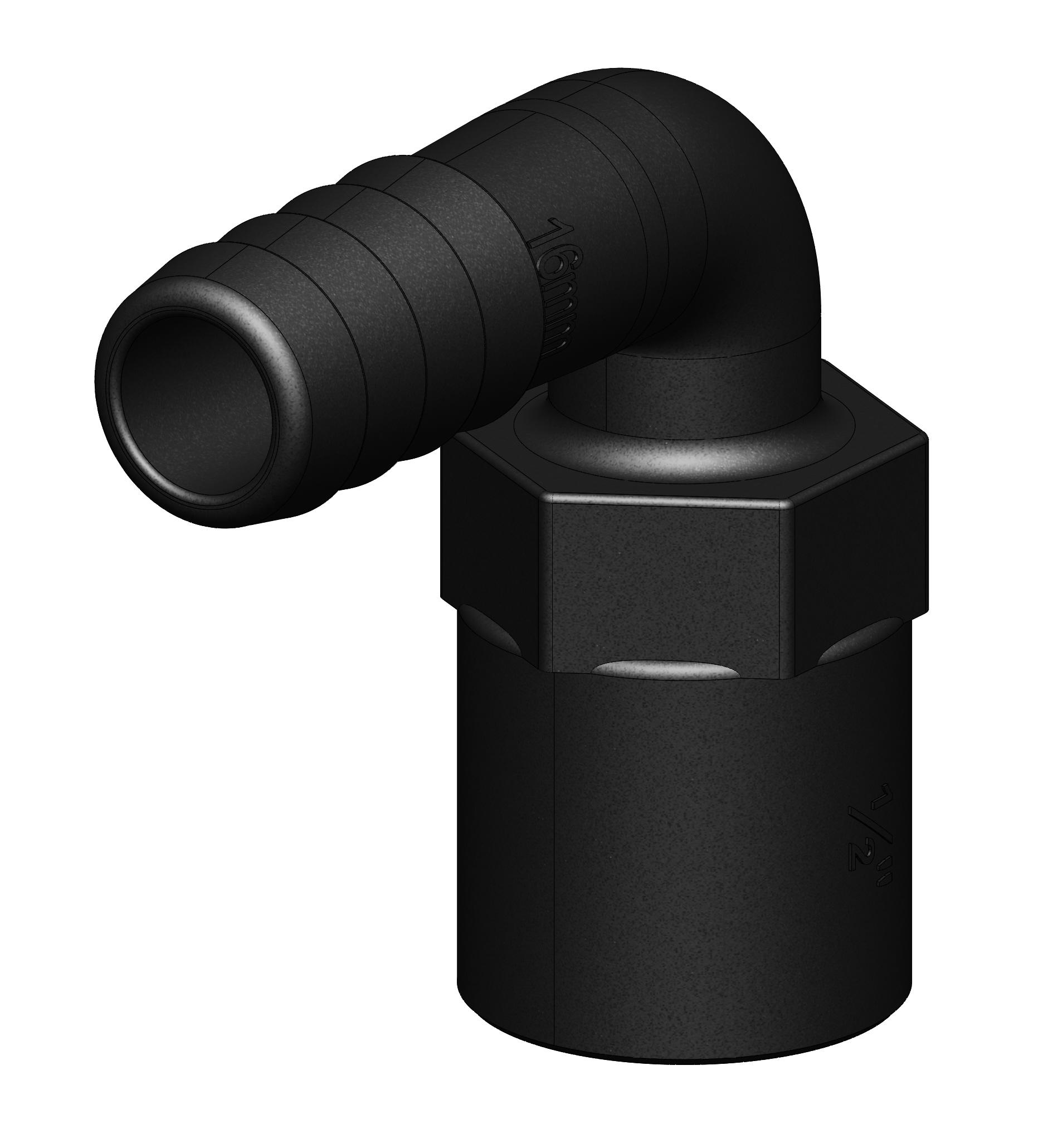 Slangkoppling 1/2 90gr. 16mm inv.