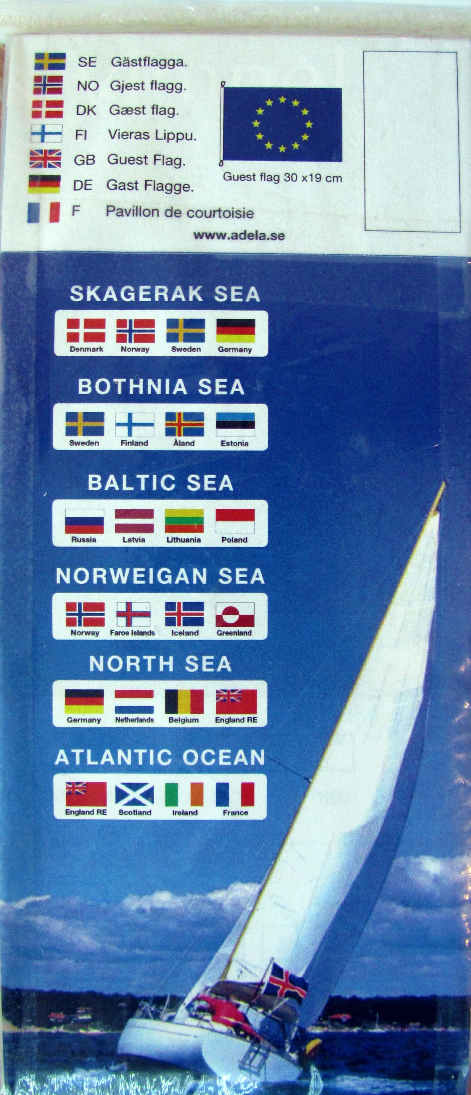 Gästflaggort nordsjön 4st/frp