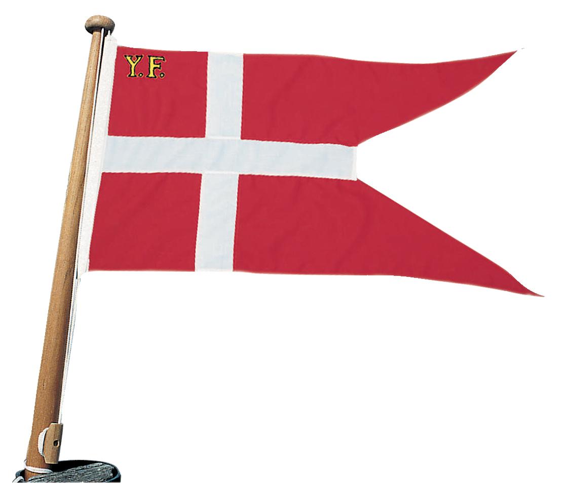Båtflagga bomull dk yf, 70 cm