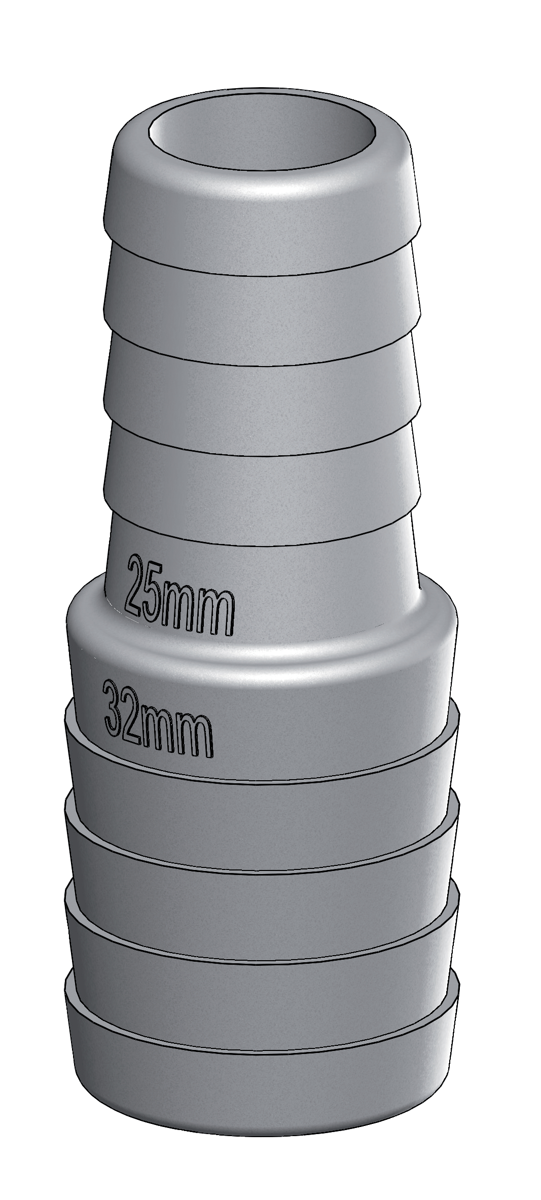 Slangreducering 19-13mm