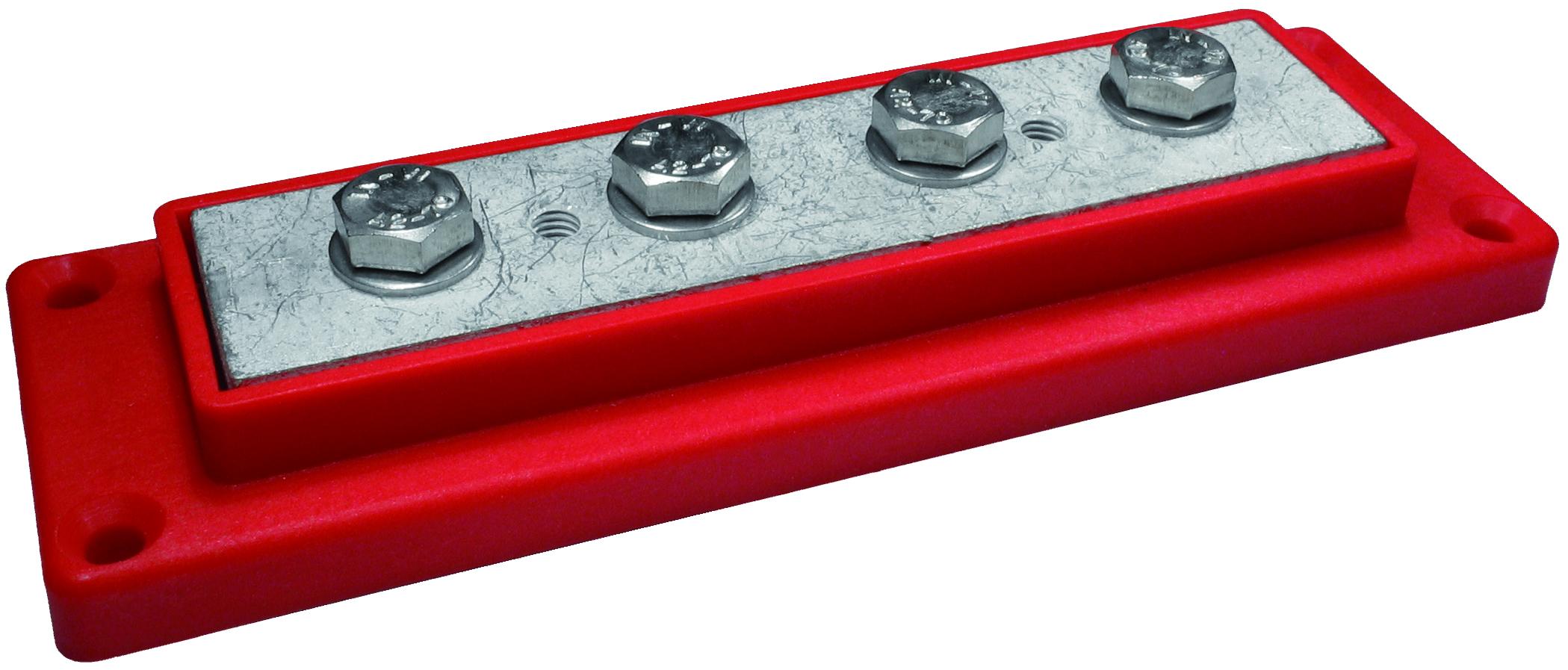 Kopplingsplint röd 4 x 120 mm² m8