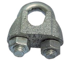 Wirelås bygellås galv. wire ø 5 mm