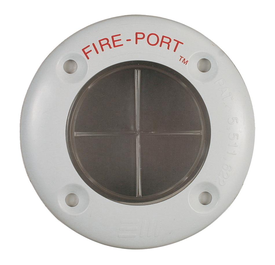Fire-port skottgenomföring