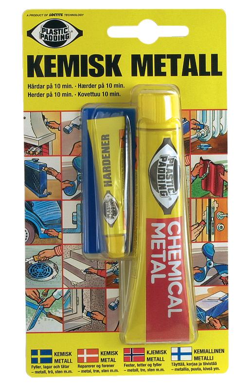 plastic padding kemisk metall aluminium