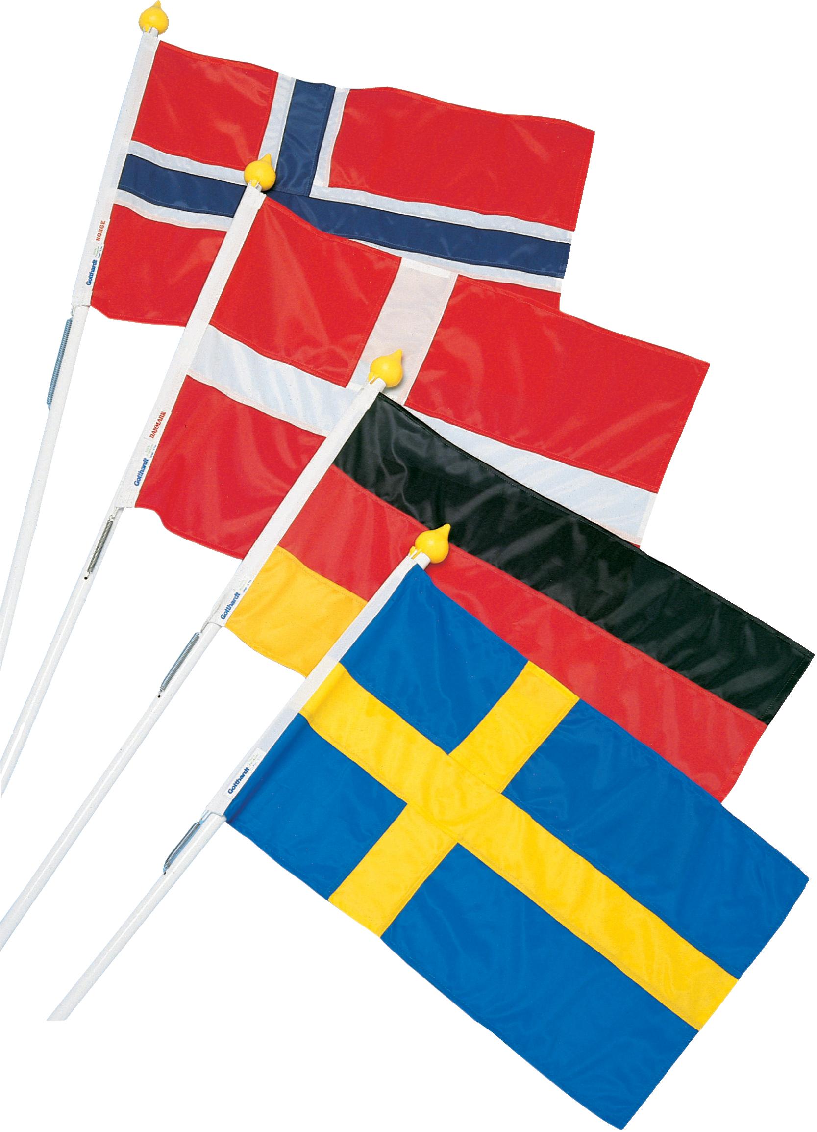 Fasadset norge, flagga 70 cm