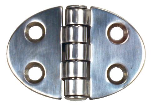 Gångjärn, rfr oval centrumknorr 51x35 mm