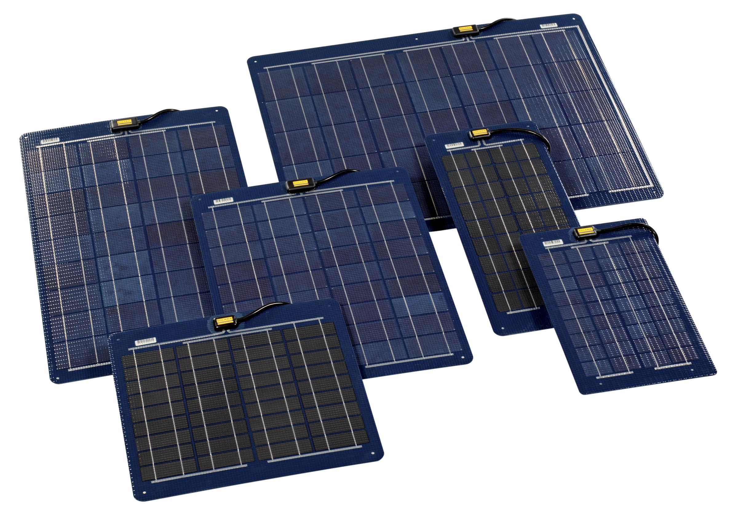 Solara m-serie 55 w, semi-flex solceller till båt