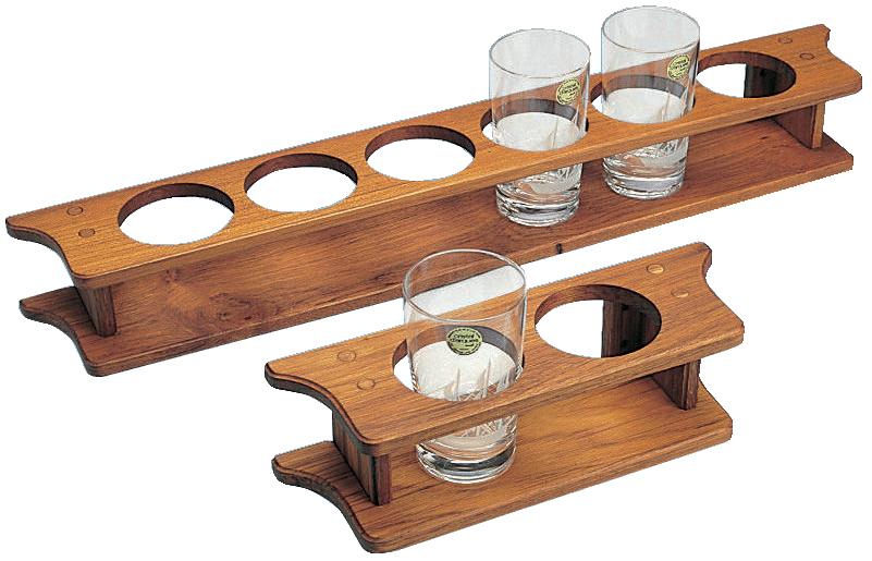 Glashållare för 4 glas 43x9x9 cm