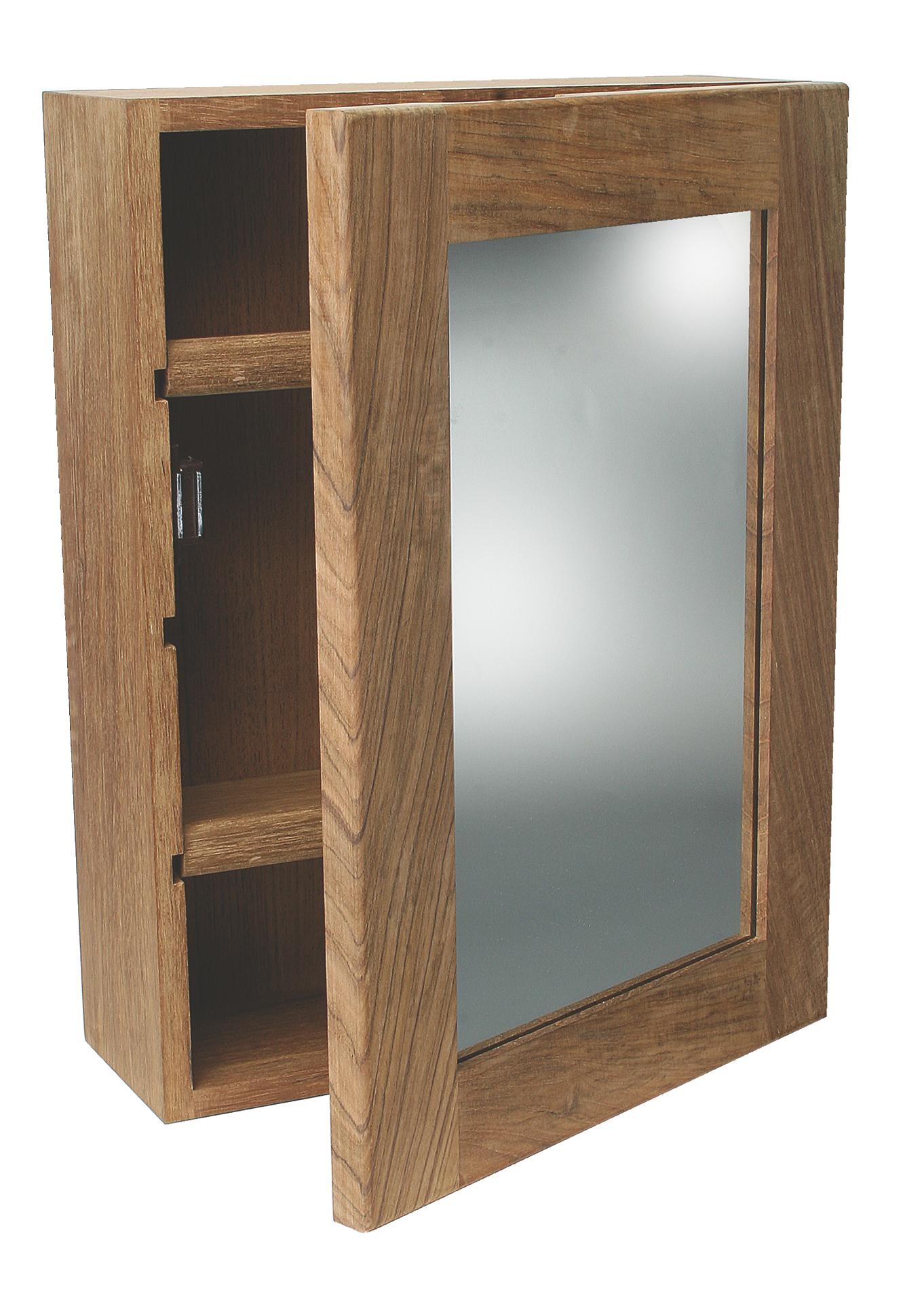 spiegelschrank teak regale und halter. Black Bedroom Furniture Sets. Home Design Ideas