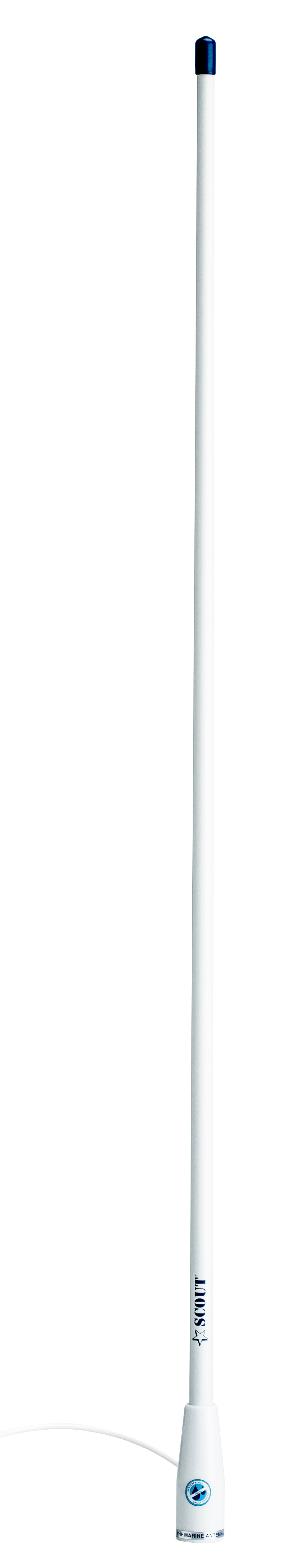 Ais antenn glasfiber 09m vit